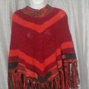 Italian Knitted poncho.